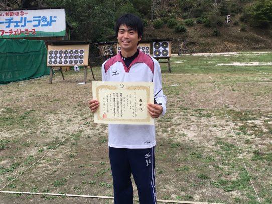 第29回全日本学生フィールドアーチェリー選手権大会で瀧瀬裕貴さんがCP男子部門で優勝!