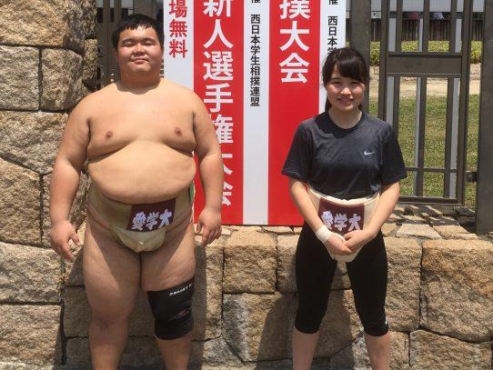 【相撲部】全国選抜女子相撲大会で佐野清香さんが超軽量級50kg未満で準優勝!