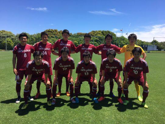 【サッカー部】第56回東海学生サッカーリーグ第8節 vs中部大学(5/27)