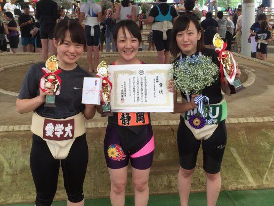 【相撲部】全国女子相撲選抜ひめじ大会で佐野清香さんが超軽量級50kg未満で3位
