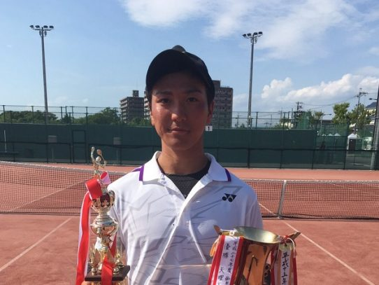 【ソフトテニス部】沖野天祐さんが西日本学生ソフトテニス大会 シングルスで優勝