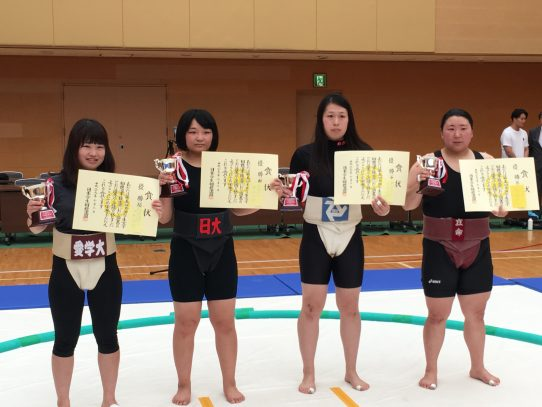 【相撲部】全日本学生女子相撲選手権大会で佐野清香さんが超軽量級50kg未満で優勝