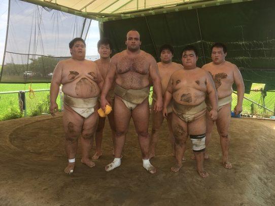 【相撲部】大砂嵐関らと稽古!