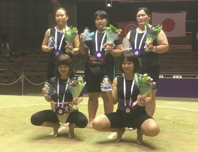 【相撲部】全日本女子相撲選手権大会で佐野 清香さんが超軽量50kg未満で初優勝!