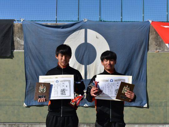 【硬式庭球部】平成30年度第68回東海学生新進テニス選手権大会において男子ダブルス優勝!