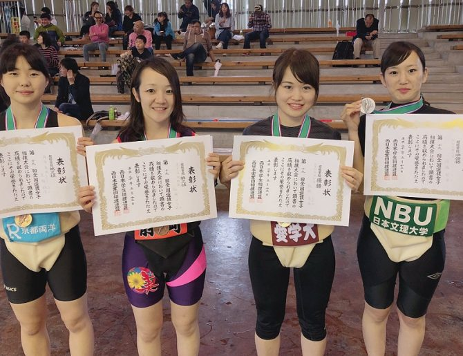 【相撲部】第19回全国選抜女子相撲大会で佐野清香さんが超軽量級50kg未満で初優勝