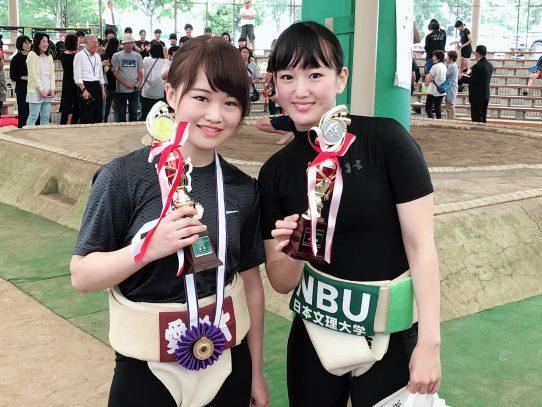 【相撲部】第4回全国女子相撲選抜ひめじ大会で佐野清香さんが超軽量級50kg未満で初優勝