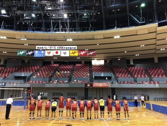 【バレーボール部(男子)】第44回西日本インカレ 試合報告