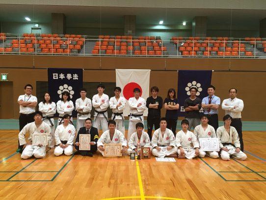 【日本拳法部】「第58回中部日本学生拳法選手権大会」にて、男子団体戦で準優勝、男子個人戦・女子個人戦で優勝を勝ち取りました