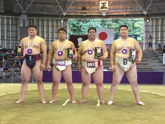 【相撲部】西日本学生相撲個人体重別選手権大会で坂井田侑生さんが無差別級3位入賞!