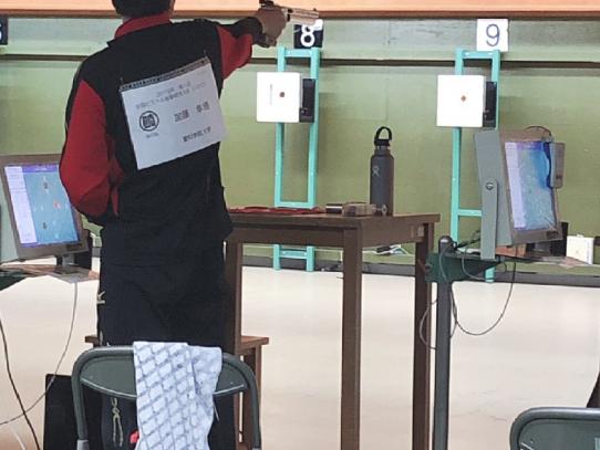 【射撃部】第1回全国ピストル射撃競技大会(U-30)