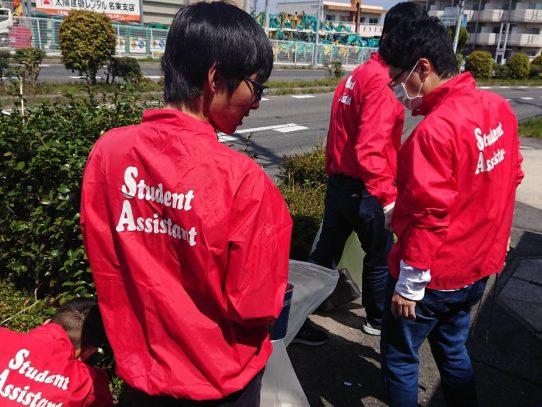 【AGUボランティアセンター】今年度初の学外清掃を行いました!