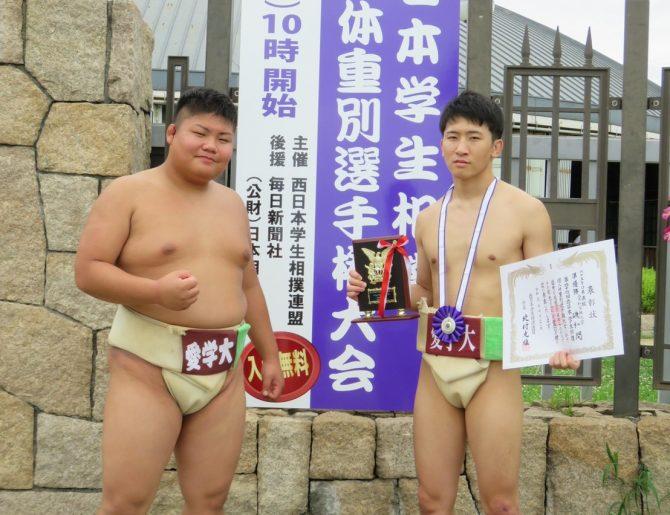 【相撲部】西日本学生相撲個人体重別選手権大会で磯和開さんが65kg未満級準優勝!