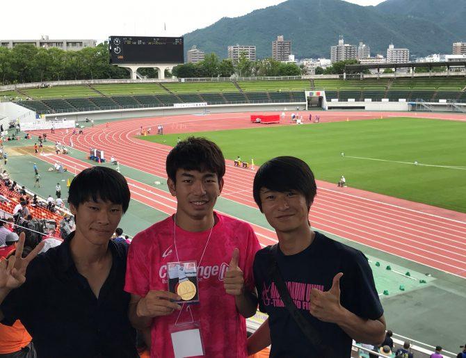 【陸上競技部】第30回 日本パラ陸上競技選手権大会において石田駆さんが100M(T46)、400M(T46)の日本記録更新、優勝を果たし世界選手権代表内定。