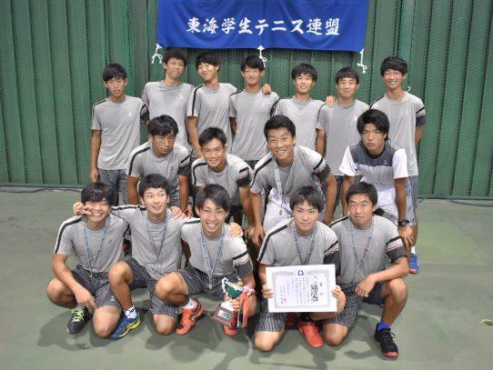 【硬式庭球部】東海大学対抗テニスリーグ戦にて男子優勝!