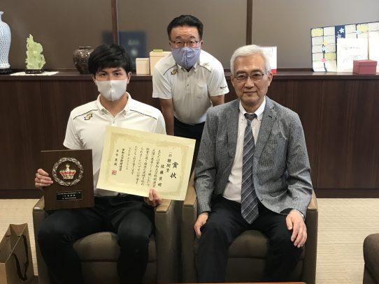 【硬式野球部】佐藤良明さんが敢闘賞を受賞!