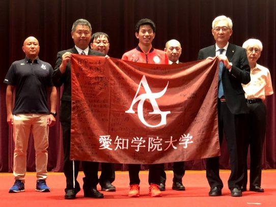 【東京2020パラリンピック】陸上競技部 石田 駆さんの壮行会が行われました