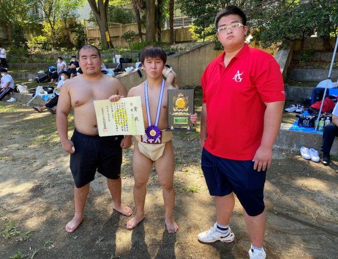 【相撲部】第46回全国学生相撲個人体重別選手権大会で松永颯斗さんが75kg未満級で優勝